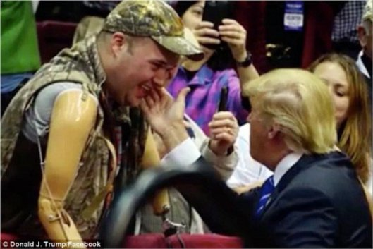 trump with disabled vet